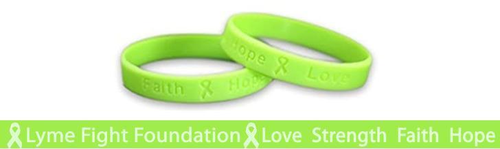 Lyme Fight Foundation Support Bracelets